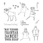 Visions Of Santa Photopolymer Stamp Set