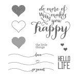 Hello Life Photopolymer Stamp Set