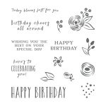 Perennial Birthday Clear-Mount Stamp Set