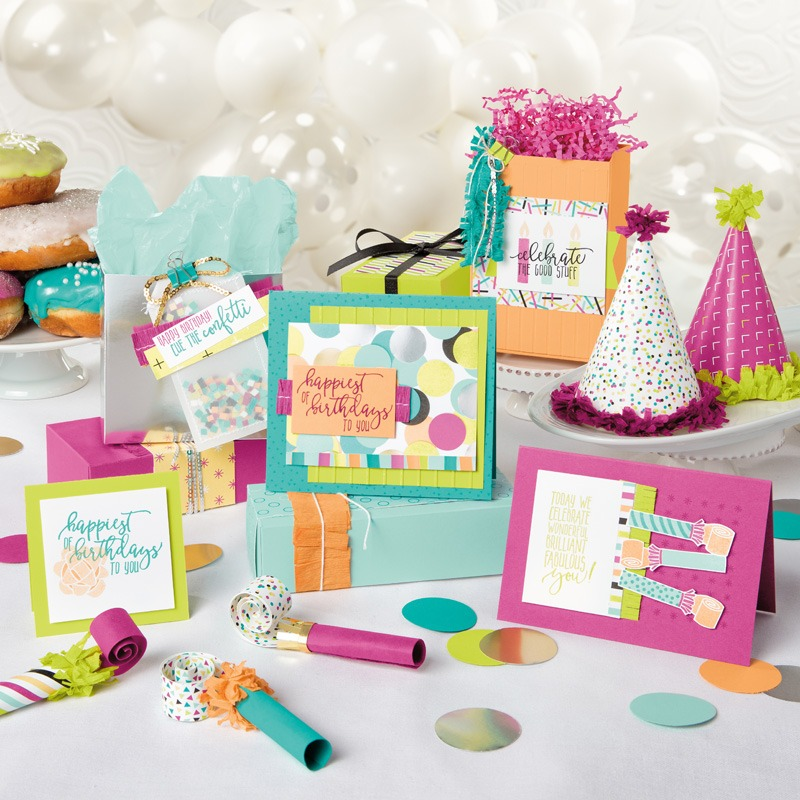 """Sample - 6"""" x 6"""" Picture Perfect Party Designer Series Paper"""