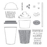 Coffee Cafe Photopolymer Stamp Set