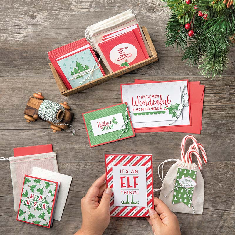 Santa's Workshop Kit Christmas cards and tags.