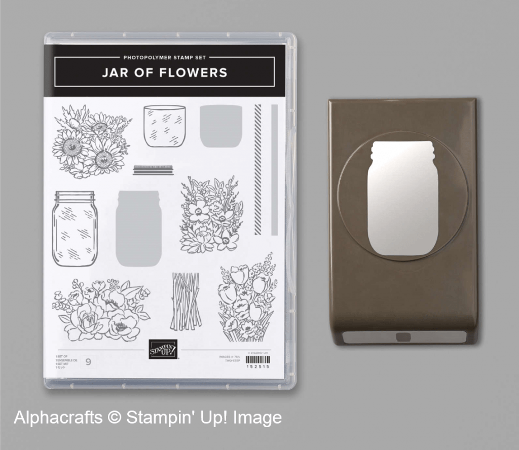 Jar of Flowers stamp set and coordinating jar punch from Stampin' Up!.