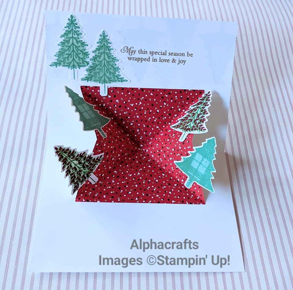 Christmas tree pop-up cards