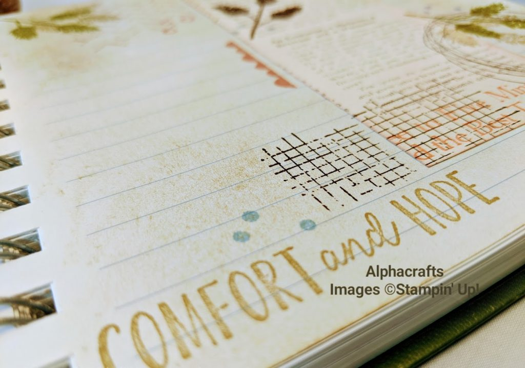 Close up photo of stamping using Comfort & Hope by Stampin' Up!.