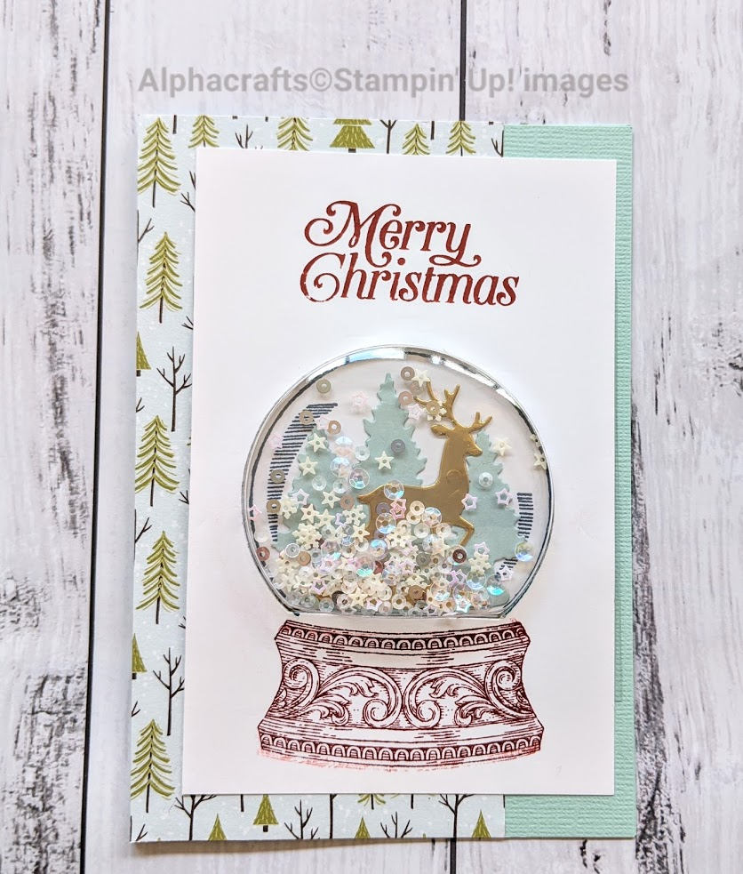 Snow Globe Card using Still Scenes from Stampin' Up!.