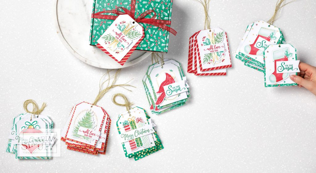 Tag Buffet Project Kit from Stampin' Up! for making Christmas tags.
