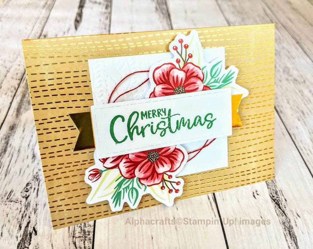 Christmas card from the Paper Pumpkin kit called Joy To The World By Stampin' Up!.
