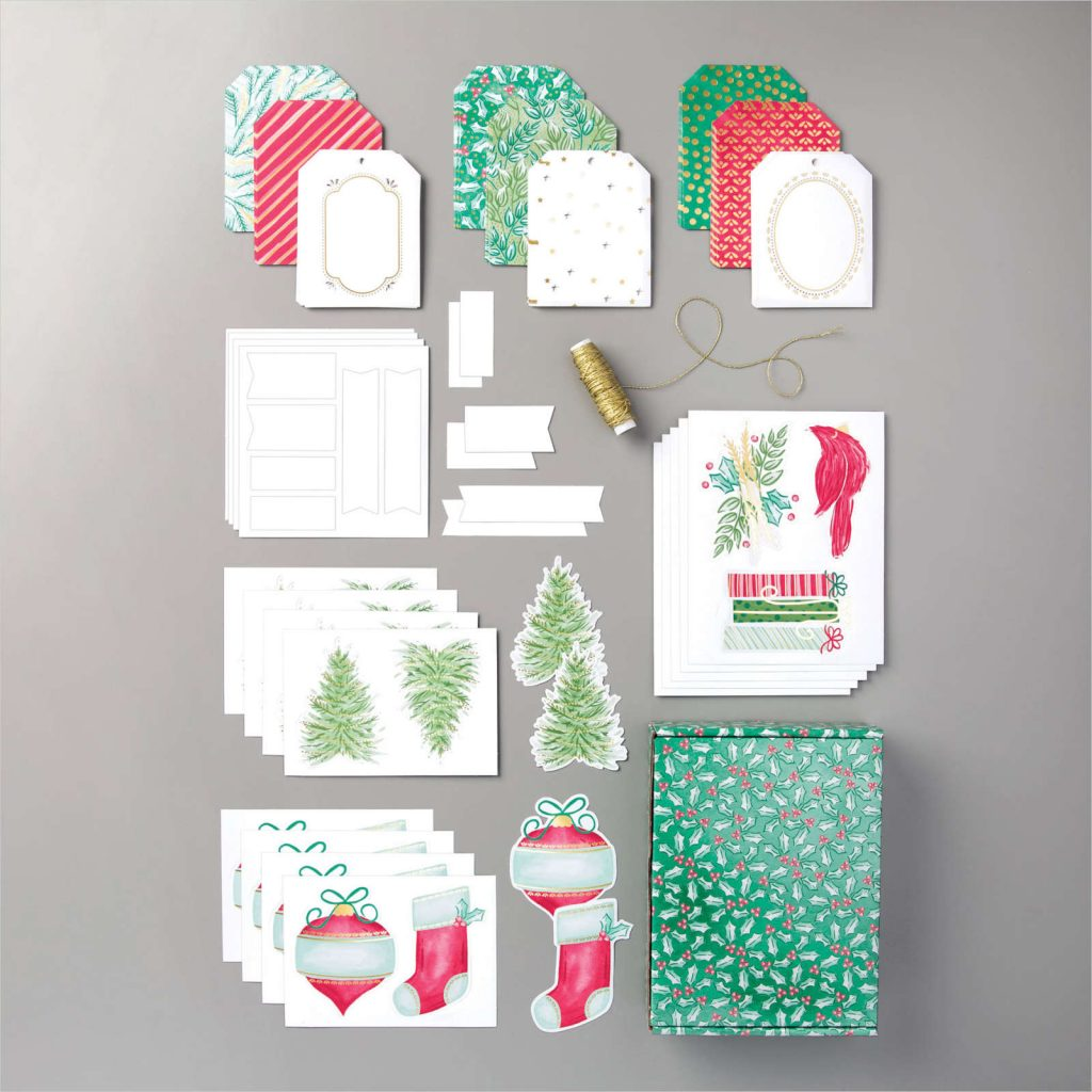 Tag Buffet Kit from Stampin' Up! to make Christmas tags.
