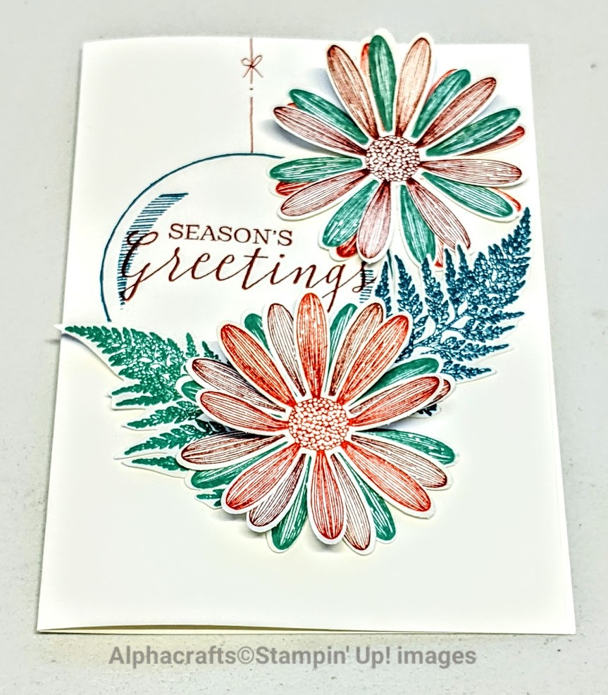 Christmas card using Daisy Lane from Stampin' Up!.