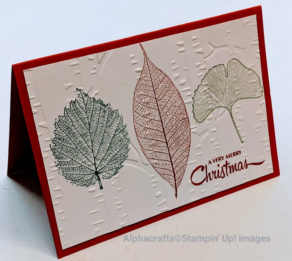 Christmas card using the Loyal Leaves stamp set from Stampin' Up!.