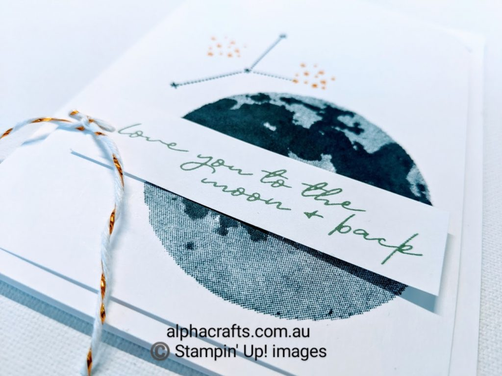 Card design that uses the stamp set called To The Moon by Stampin' Up!.