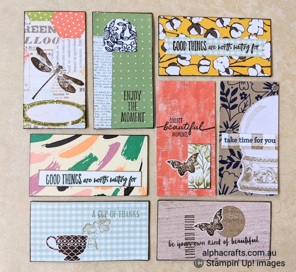 Journal collage art with uplifting messages.