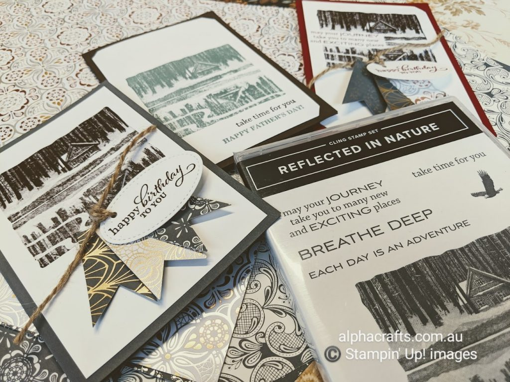 Image of Reflected In Nature cards and stamp set.