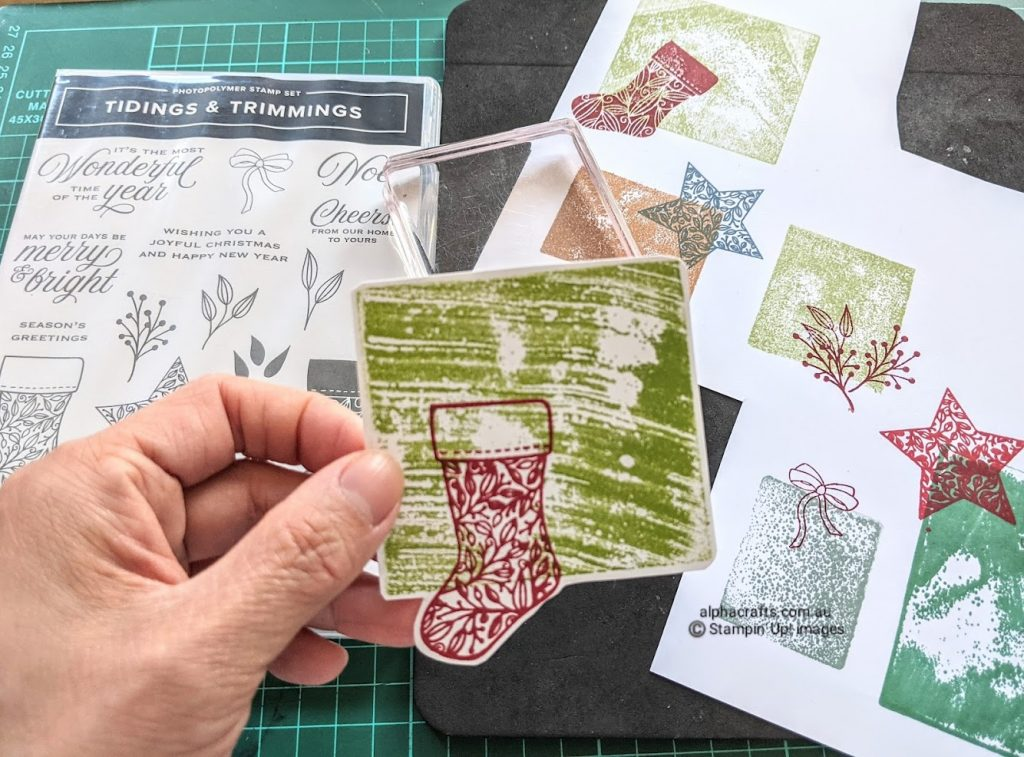 Tidings and Trimmings Inspiration - stamp set, clear blocks and tags sample